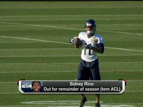 Video - As Seattle Seahawks wide receiver Sidney Rice goes down, Percy Harvin could return