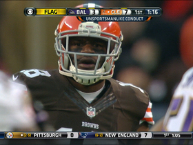 Video - Cleveland Browns wide receiver Greg Little throws Ravens helmet