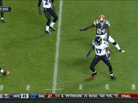 Video - Cleveland Browns linebacker Eric Martin muffed punt recovery