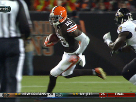 Video - Cleveland Browns wide receiver Greg Little 46-yard catch