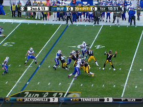 Video - Pittsburgh Steelers quarterback Ben Roethlisberger throws early interception