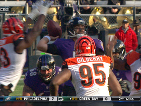 Video - Baltimore Ravens quarterback Joe Flacco's pass intercepted by Cincinnati Bengals linebacker Vincent Rey