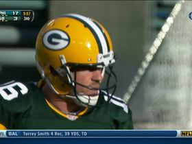 Video - Philadelphia Eagles intercept Green Bay Packers quarterback Scott Tolzien