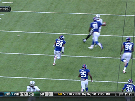 Video - Oakland Raiders quarterback Terrelle Pryor intercepted by New York Giants cornerback Terrell Thomas