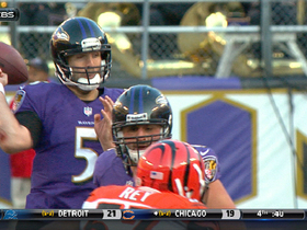 Video - Baltimore Ravens quarterback Joe Flacco's fumble recovered by Cincinnati Bengals linebacker James Harrison