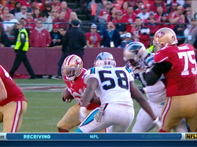 Video - Carolina Panthers force Kendall Hunter fumble