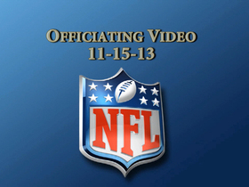 Video - Week 10: NFL officiating video