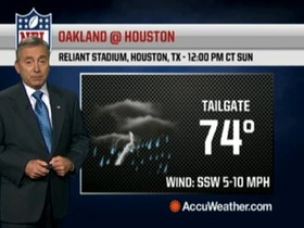 Video - Weather update: Raiders @ Texans.
