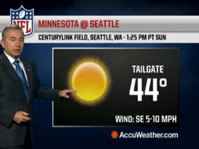 Video - Weather update: Vikings @ Seahawks.
