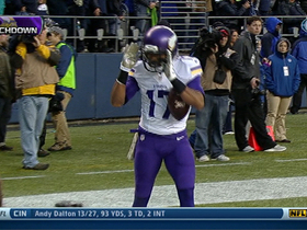 Video - Minnesota Vikings wide receiver Jarius Wright's second TD reception