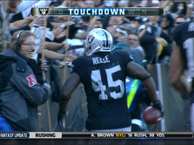 Video - Oakland Raiders fullback Marcel Reece 27-yard touchdown
