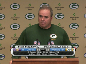 Video - Green Bay Packers coach Mike McCarthy: Aaron Rodgers 'slim to none' to play this week