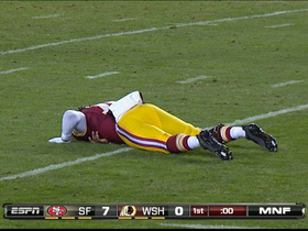 Video - Washington Redskins QB Robert Griffin III throws interception