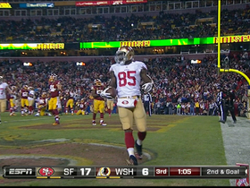 Video - San Francisco 49ers tight end Vernon Davis 1-yard touchdown