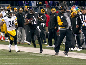 Watch: Jones dodges Tomlin on big kickoff return
