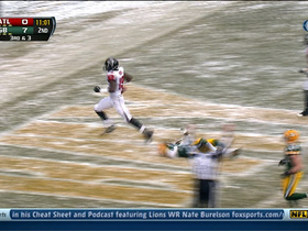 Video - Atlanta Falcons wide receiver Drew Davis 36-yard touchdown reception