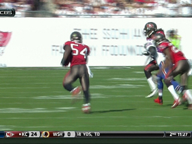Video - Buffalo Bills quarterback EJ Manuel's pass intercepted by Tampa Bay Buccaneers linebacker Lavonte David