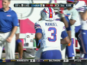 Video - Buffalo Bills quarterback EJ Manuel throws 3rd interception