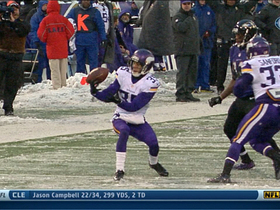 Minnesota Vikings cornerback Marcus Sherels picks off Baltimore Ravens QB Joe Flacco