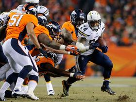 Video - San Diego Chargers running back Ryan Mathews 18-yd run