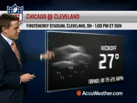 Video - Weather update: Bears @ Browns.