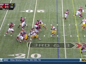 Redskins defense, sack, 2-yd loss