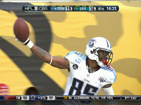 Video - Tennessee Titans wide receiver Nate Washington 30-yard touchdown catch