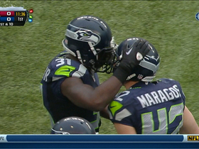 Video - Seattle Seahawks defensive back Kam Chancellor intercepts Arizona Cardinals quarterback Carson Palmer