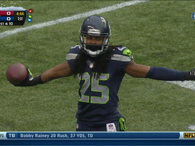 Video - Seattle Seahawks cornerback Richard Sherman intercepts Arizona Cardinals quarterback Carson Palmer