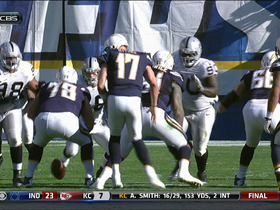 Video - San Diego Chargers QB Philip Rivers fumbles botched snap