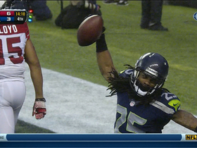 Video - Seattle Seahawks cornerback Richard Sherman's second interception