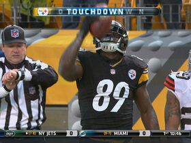 Video - Pittsburgh Steelers wide receiver Jerricho Cotchery 9-yard diving TD