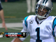 Watch: Newton throws interception to Moore