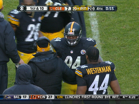 Video - Pittsburgh Steelers linebacker Lawrence Timmons picks off Cleveland Browns quarterback Jason Campbell
