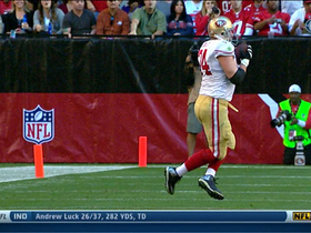 Video - San Francisco 49ers left tackle Joe Staley catches a pass