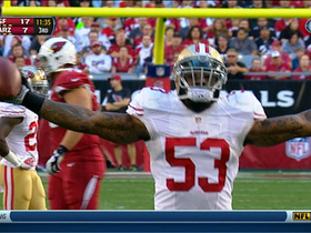 Video - San Francisco 49ers linebacker NaVorro Bowman forces, recovers fumble