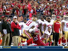 Video - San Francisco 49ers wide receiver Quinton Patton makes terrific 22-yard catch with seconds left