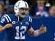Watch: Luck throws interception on second-straight pass