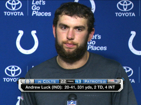 Video - Indianapolis Colts quarterback Andrew Luck disappointed in himself after loss