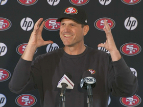 Video - San Francisco 49ers coach Jim Harbaugh hopes team is 'hardened' for NFC Championship