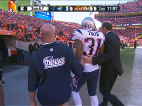 Video - New England Patriots cornerback Aqib Talib leaves game with injury