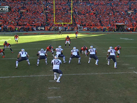 Video - New England Patriots quarterback Tom Brady completes pass while being tackled