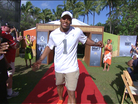 Video - 2014 Pro Bowl Draft: Carolina Panthers quarterback Cam Newton goes No.3