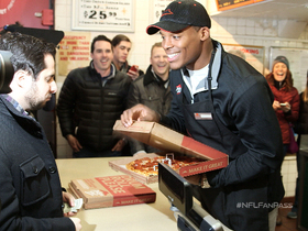 Video - NFL Fan Pass: Cam Newton makes a pizza