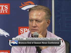 Video - Denver Broncos executive vice president of football operations John Elway: We're building like Peyton is going to be here