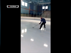 Video - J.J. Watt shows off hockey skills