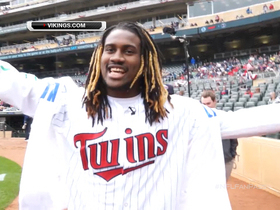 Video - Minnesota Vikings wide receiver Cordarrelle Patterson goes deep with Minnesota Twins