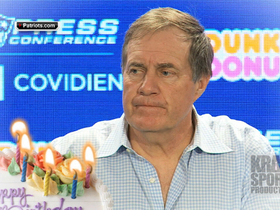 Video - New England Patriots wish head coach Bill Belichick a happy birthday