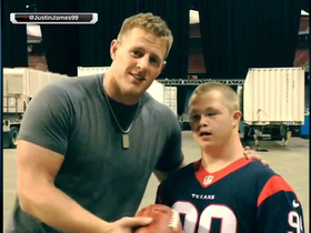 Video - Houston Texans defensive end J.J. Watt and friend Trey s