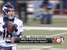 Video - Making sense of Peyton Manning-Nick Saban meeting